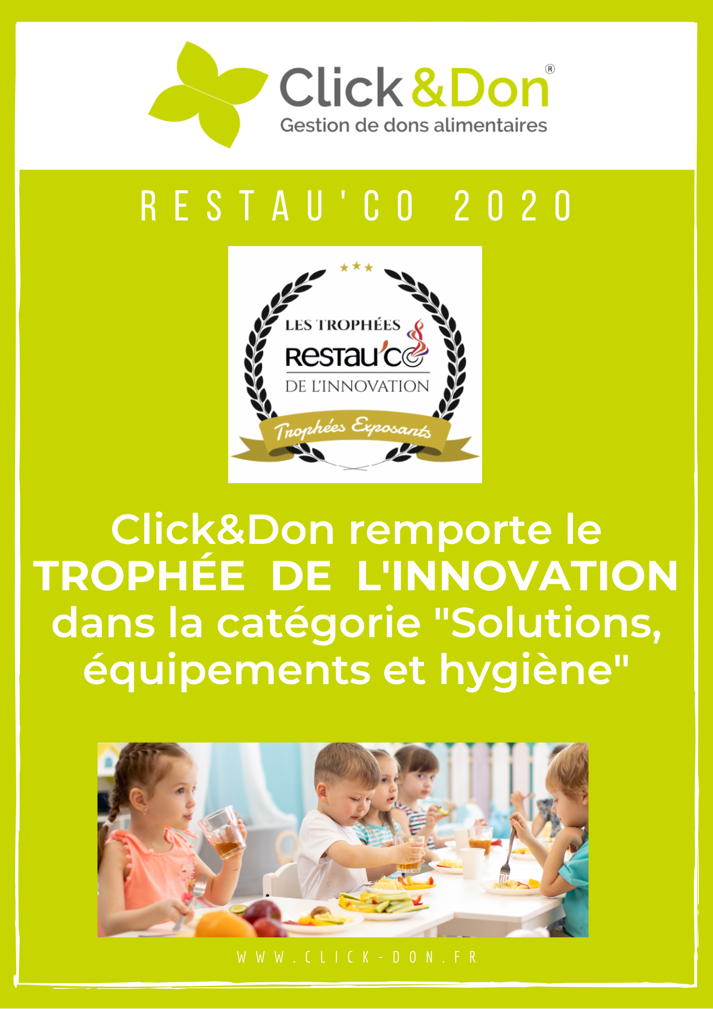 Click&Don remporte le Trophée de l'innovation Restau'co 2020 !